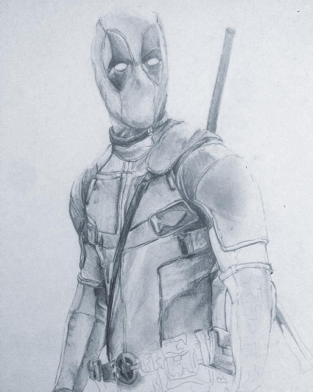Finishing up deadpool drawing draw drawing graphite