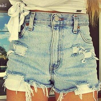 5dd9cc7031 DISTRESSED High Waisted Shorts / Sexy Denim Shorts For Summer: All  Sizes.❤Get your own Mystery DISTRESSED Hipster / Grunge/ High Waisted Denim  Shorts ...