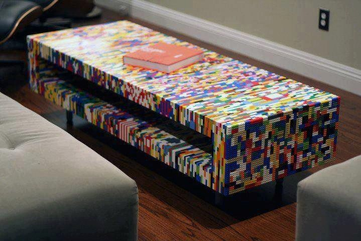 Coffee table made of lego! Weep Legomaniacs! My dream house