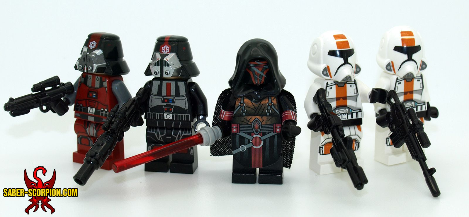 Lots of new sw lego custom minifigs stickers and brickarms blasters now available at
