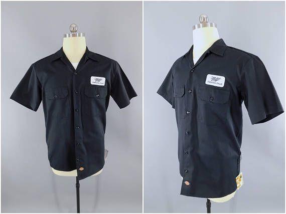 0ed64529 Miller Beer / Delivery Man / Work Shirt / Miller Genuine Draft / Beer Patch  / Dickies / Medium / Patches / Short Sleeve #DeliveryMan #WorkShirt  #MillerBeer ...