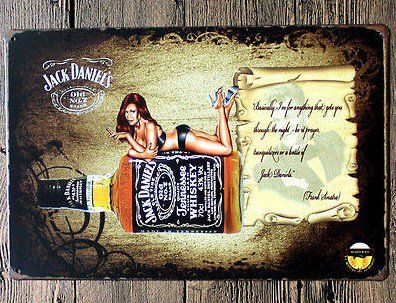Jack daniel whiskey tin sign bar pub wall decor decoration for Pochoir jack daniels