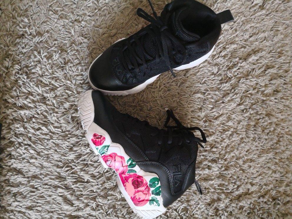 chaussure fila femme cyan