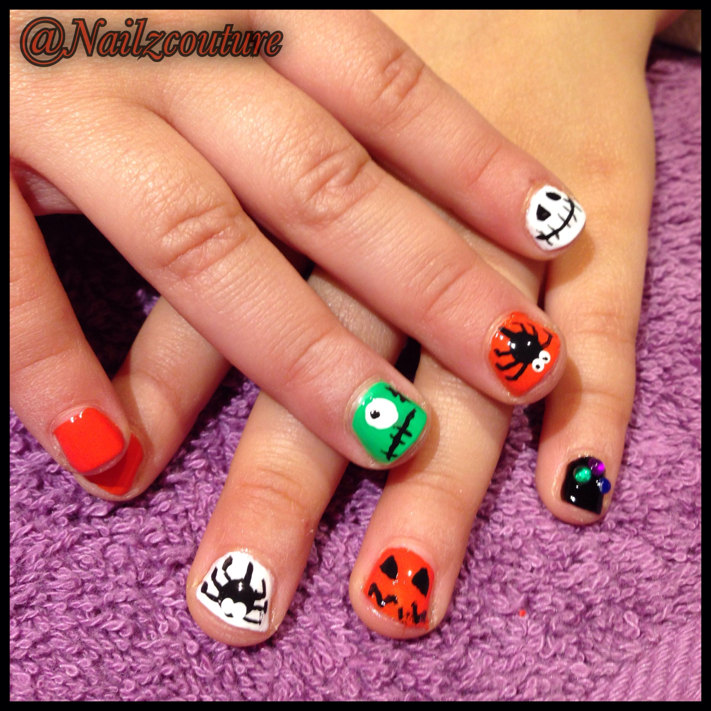 Kids Halloween Nails