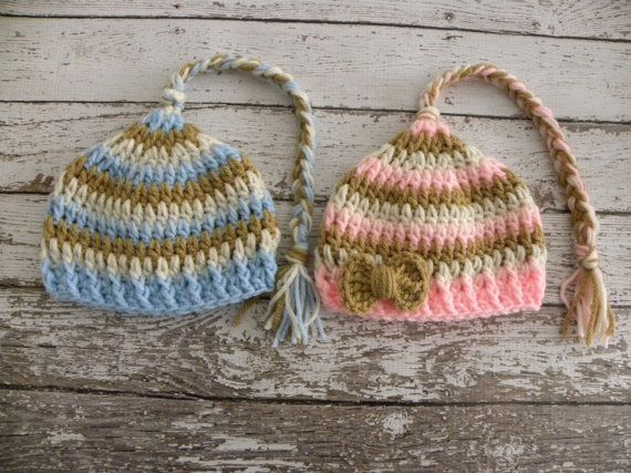 TWIN elf hats Boy/Girl Twin photo prop elf by TrebleStitchBoutique, $36.00