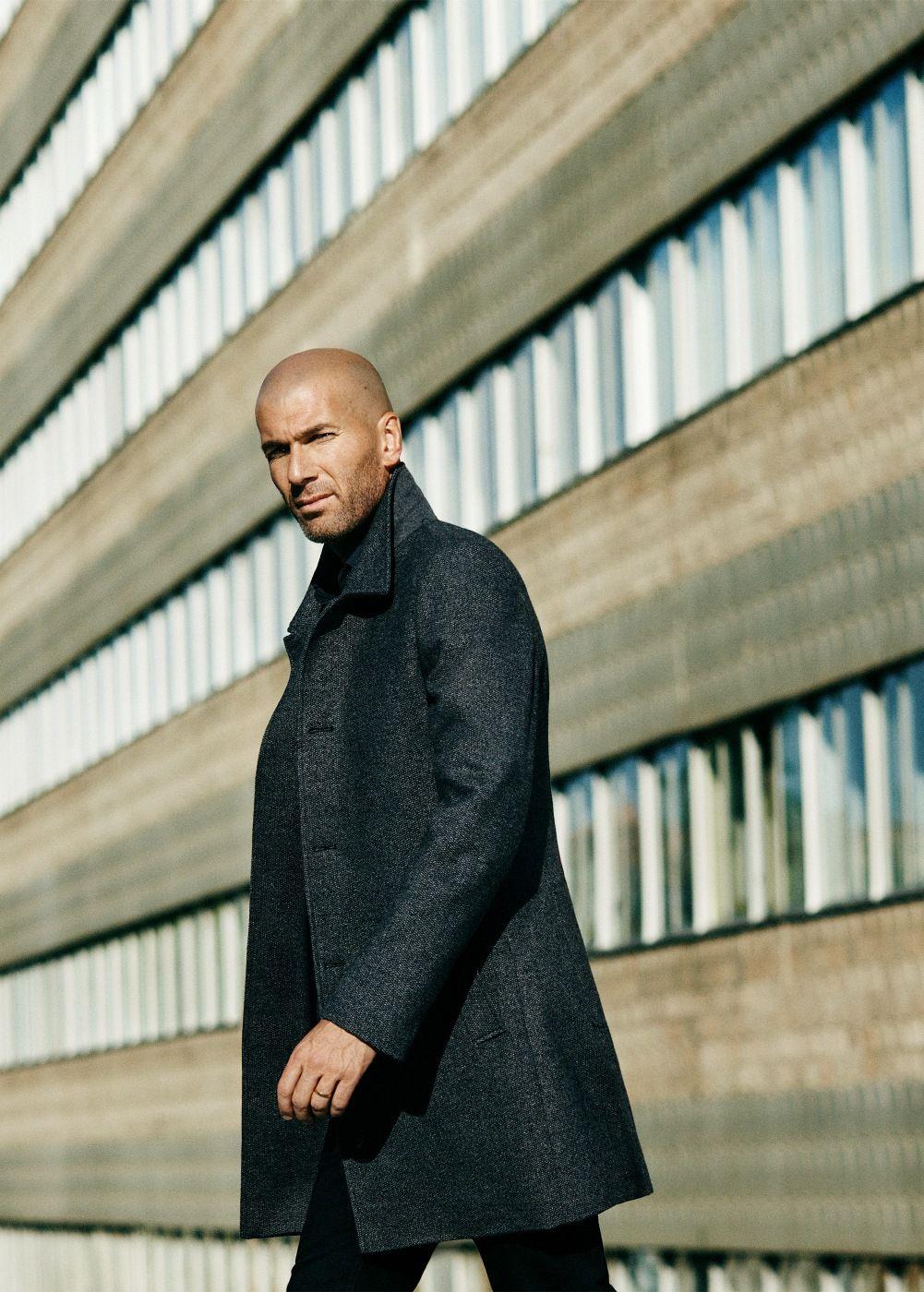 Tweed mantel aus woll mix Herren