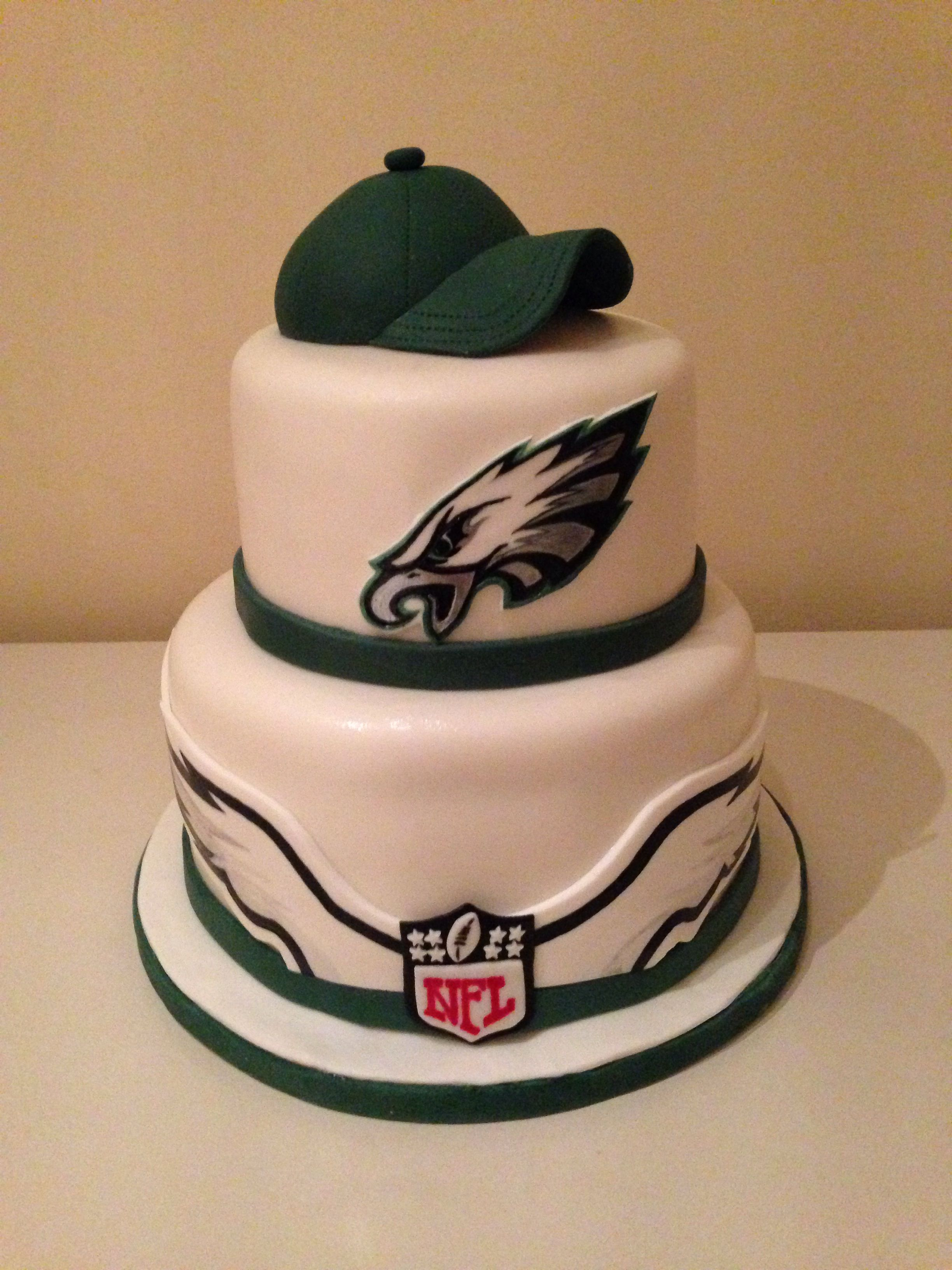 Fine Philadelphia Eagles Cake With Images Philadelphia Eagles Cake Funny Birthday Cards Online Elaedamsfinfo