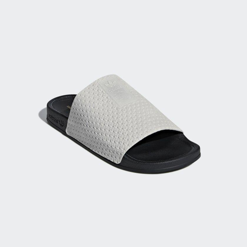 70b3f91ed Adilette Luxe Slides Grey Two   Core Black   Gold Metallic DA8930