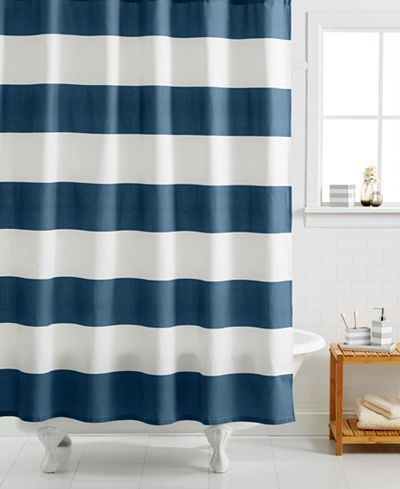 100 Cotton Stripe Shower Curtain Striped Shower Curtains
