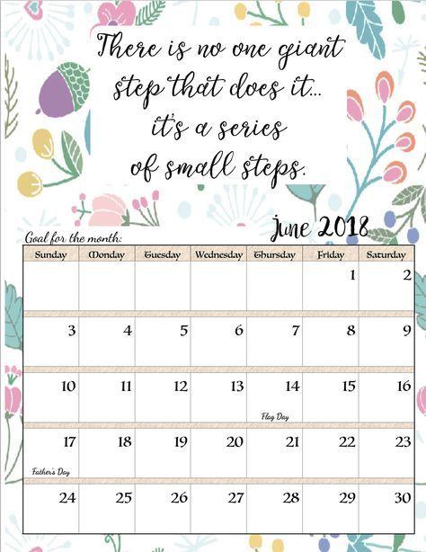 free printable 2018 monthly motivational calendars calendar to