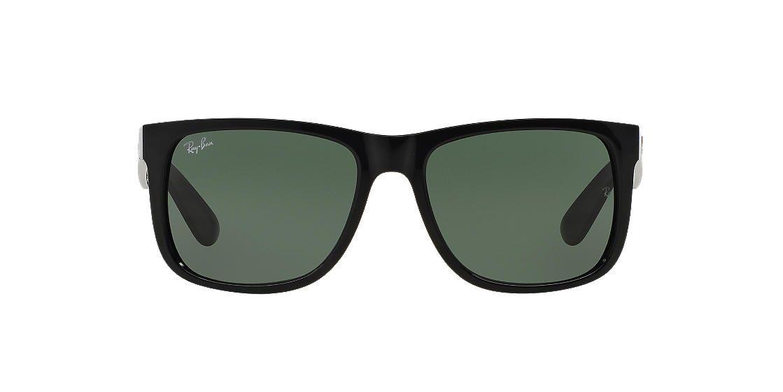 c89c94f5bb4 RAY-BAN Black RB4165 54 JUSTIN Green lenses 54mm