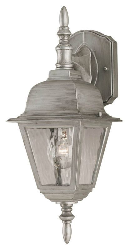 Westinghouse 67850 1 Light Outdoor Wall Sconce Antique Silver