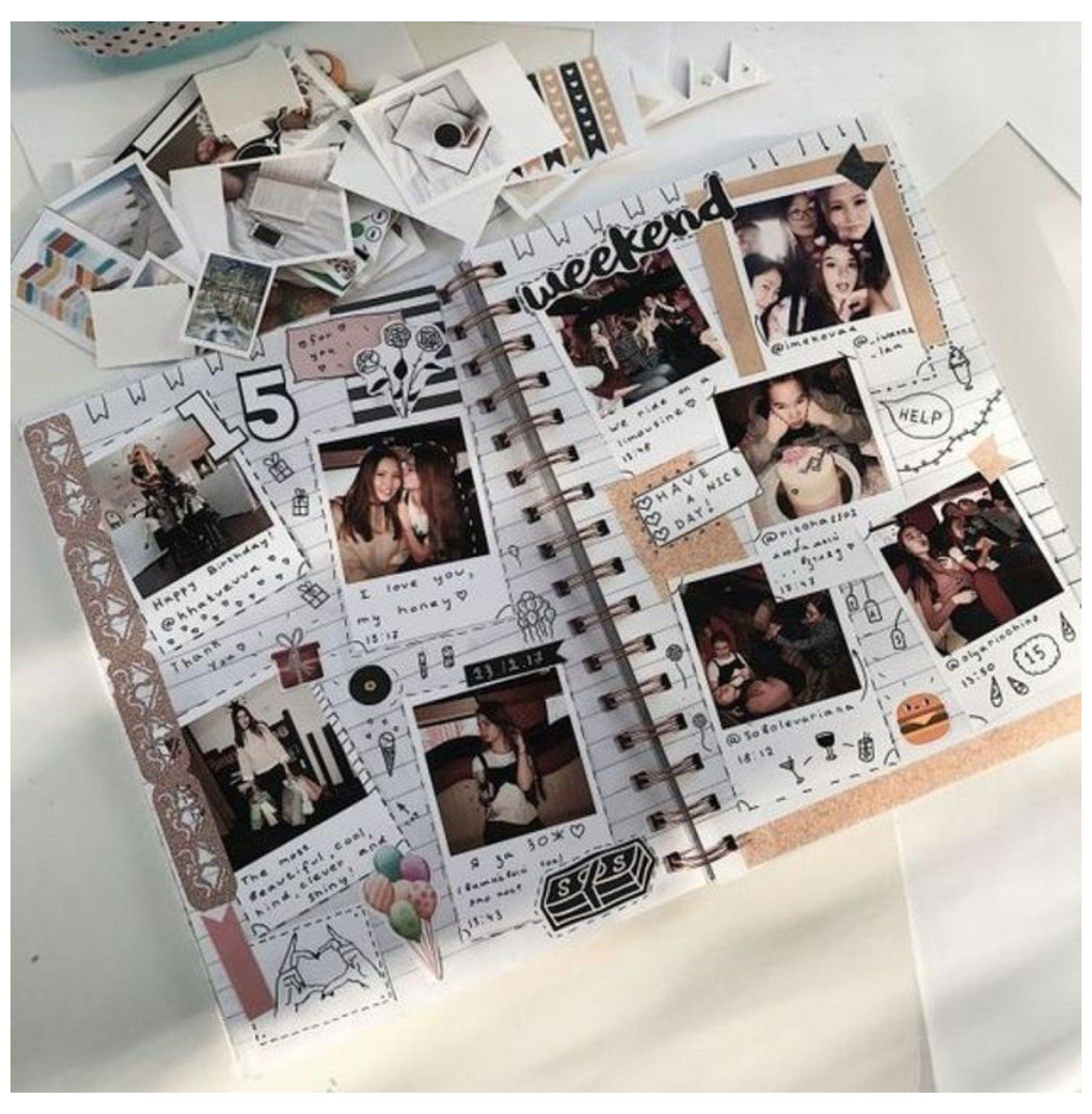10+ Scrapbook Ideas #scrapbook #ideas #aesthetic #friends ...