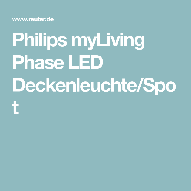 Philips myLiving Phase LED Deckenleuchte/Spot | Haus in 2018 ...