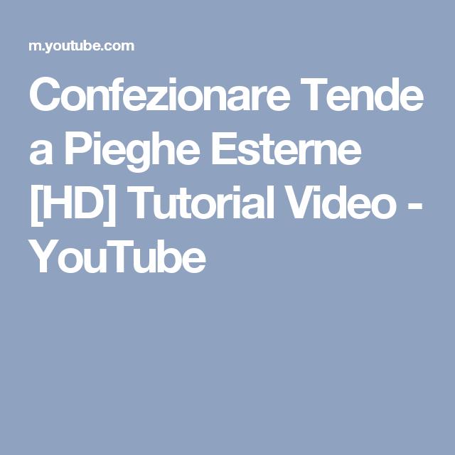 Tende A Pacchetto Fai Da Te Youtube.Confezionare Tende A Pieghe Esterne Hd Tutorial Video