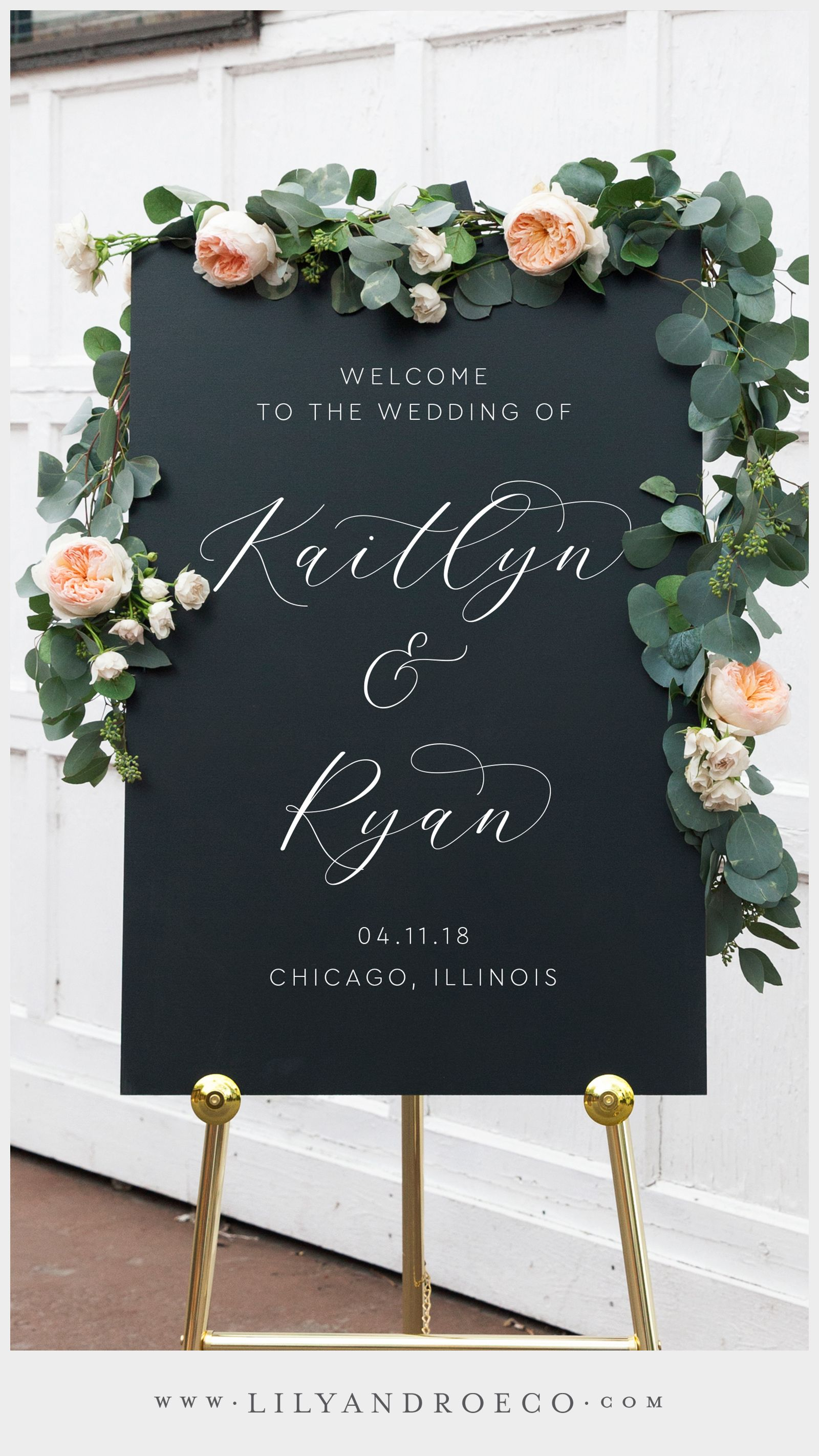 Beautiful Welcome Signs for Wedding Receptions