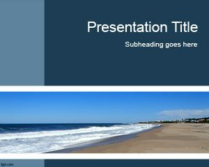 Seaside powerpoint template is a free ppt background and slide seaside powerpoint template is a free ppt background and slide design with a nice beach image toneelgroepblik Images