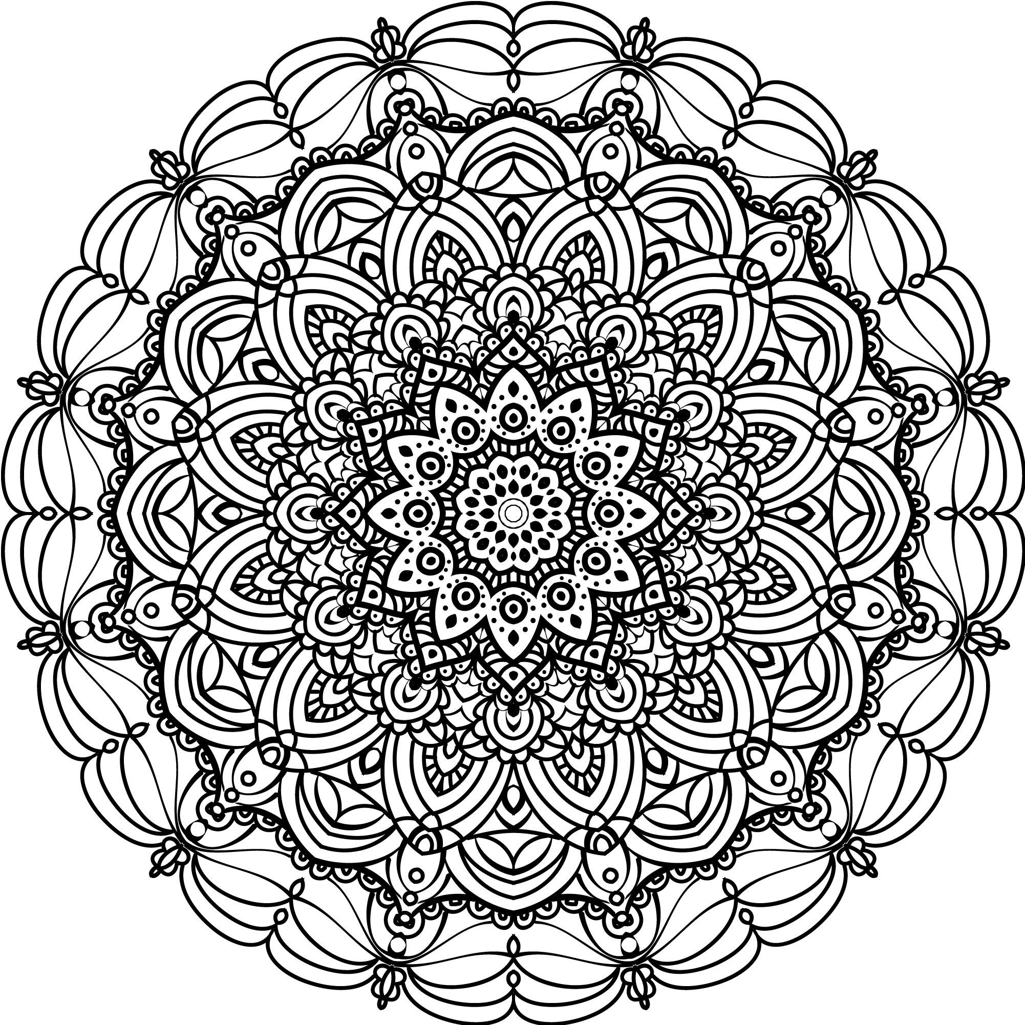 Mandala Pattern Created On Illustrator I Just Learned How To Draw