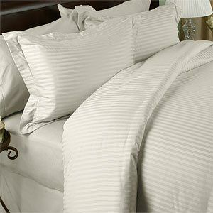 """Egyptian Linens 1200 Thread-Count, King 1200TC Pillow Cases, Ivory Damask Stripe, Set of 2 by Egyptian Linens. $34.99. Made in Egypt. Brand New and Factory Sealed.. Machine wash in cold water with similar colors. Tumble dry low. Do not bleach. 2 King Pillow Cases (20"""" x 40""""). 100% Luxury 1200TC long-staple Egyptian Cotton Pillow Cases. Package contains 2 Pillow Cases in a beautiful zippered package. Wrap yourself in these 100% Egyptian Cotton Superior pillow cases that ar..."""