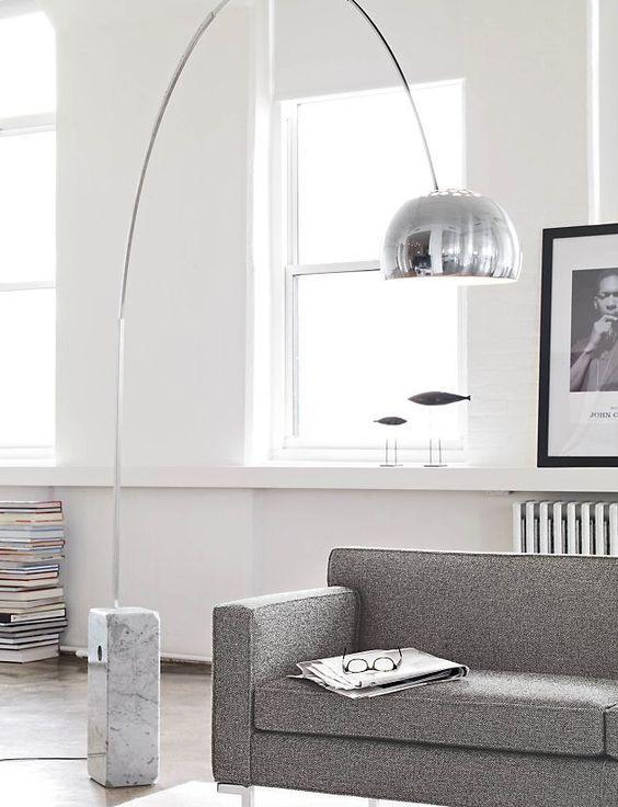 Arco lamp replica pinterest arco floor lamp floor lamp and marbles aloadofball Gallery