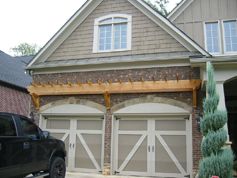 Garage Door Trellis Or Arbors. A Frame Garage. Arched Doorway Openeing. Arbor  Over