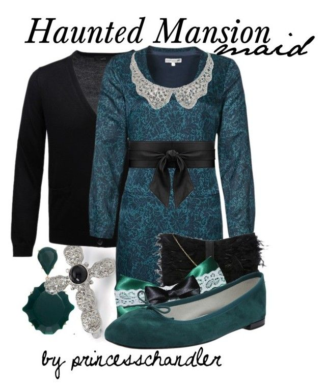 """Haunted Mansion Maid"" by princesschandler ❤ liked on Polyvore featuring ASOS, Forever 21, Jackpot, Dune, Disney, Repetto, Yves Saint Laurent, Fallon, disneybound and princesschandler"