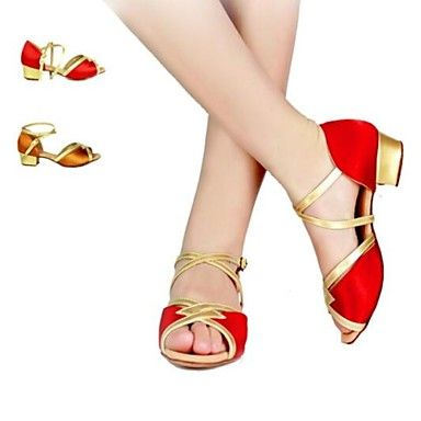 Women and Kids' Fashion Satin Upper Latin Dance Shoes Sandals (More Colors) – USD $ 29.39