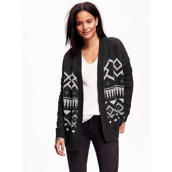 Old Navy Open Front Fair Isle Cardigan ($32) ❤ liked on Polyvore ...
