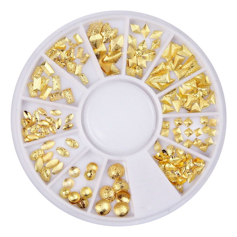 Gold Alloy Nail Art Studs 3D Nail Spikes Manicure Tools Nail Charms ...