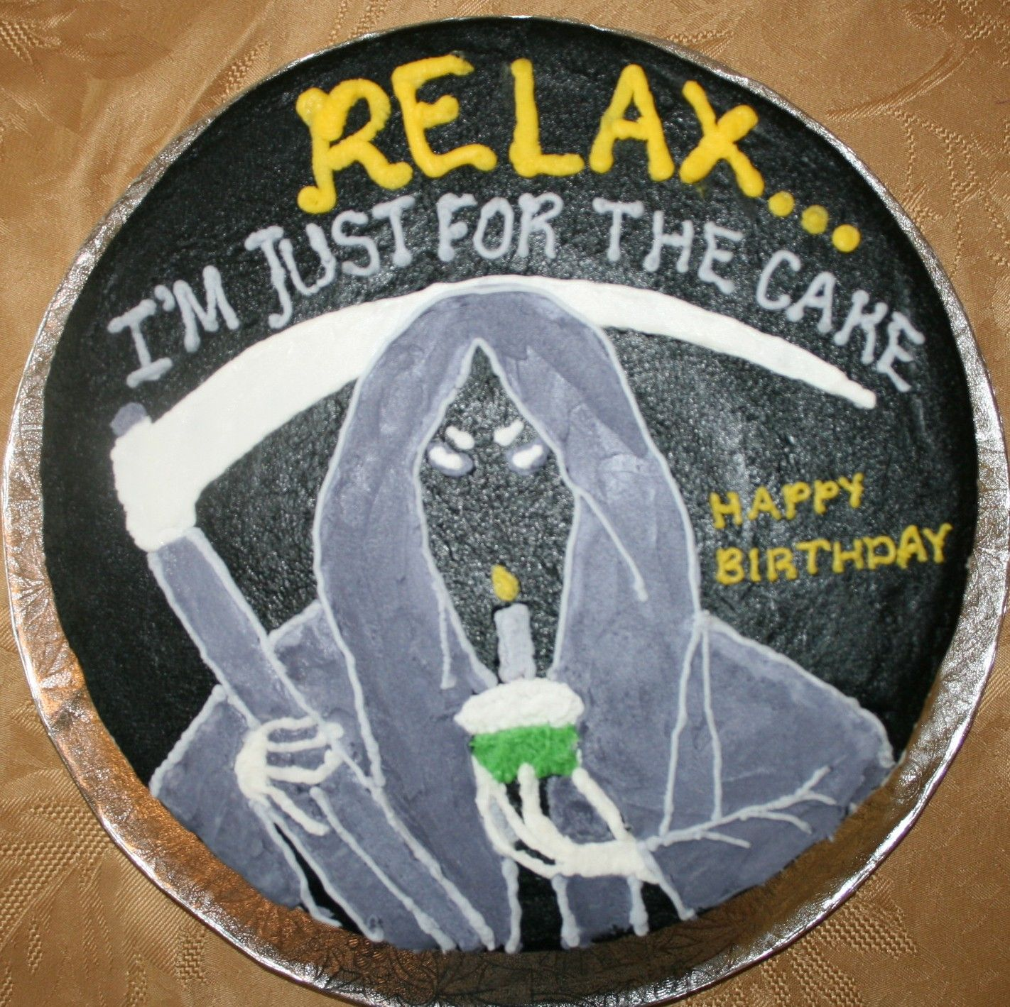 Grim Reaper Cake My Cake Creations Pinterest Grim