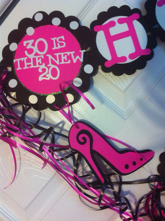 30th birthday decorations personalization available pinterest 30