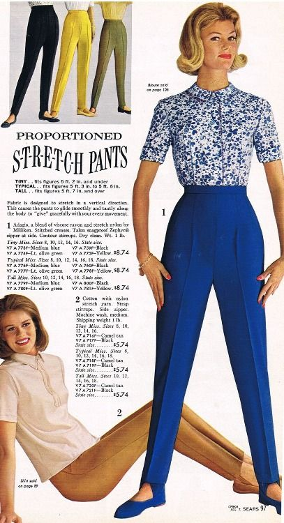 Early 60 S Stretch Pants With Stirrups Early 1960 S