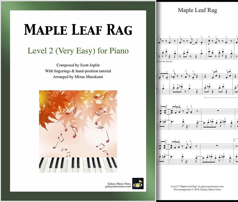 Maple Leaf Rag Level 2 Piano Sheet Music Sheet Music Piano
