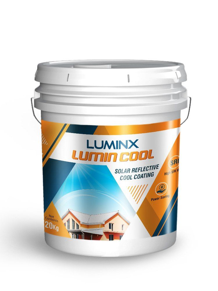 Luminx Solar Reflective Roof Coating Waterproof And Heat Resistant Paint White In 2020 Roof Coating White Painting Solar