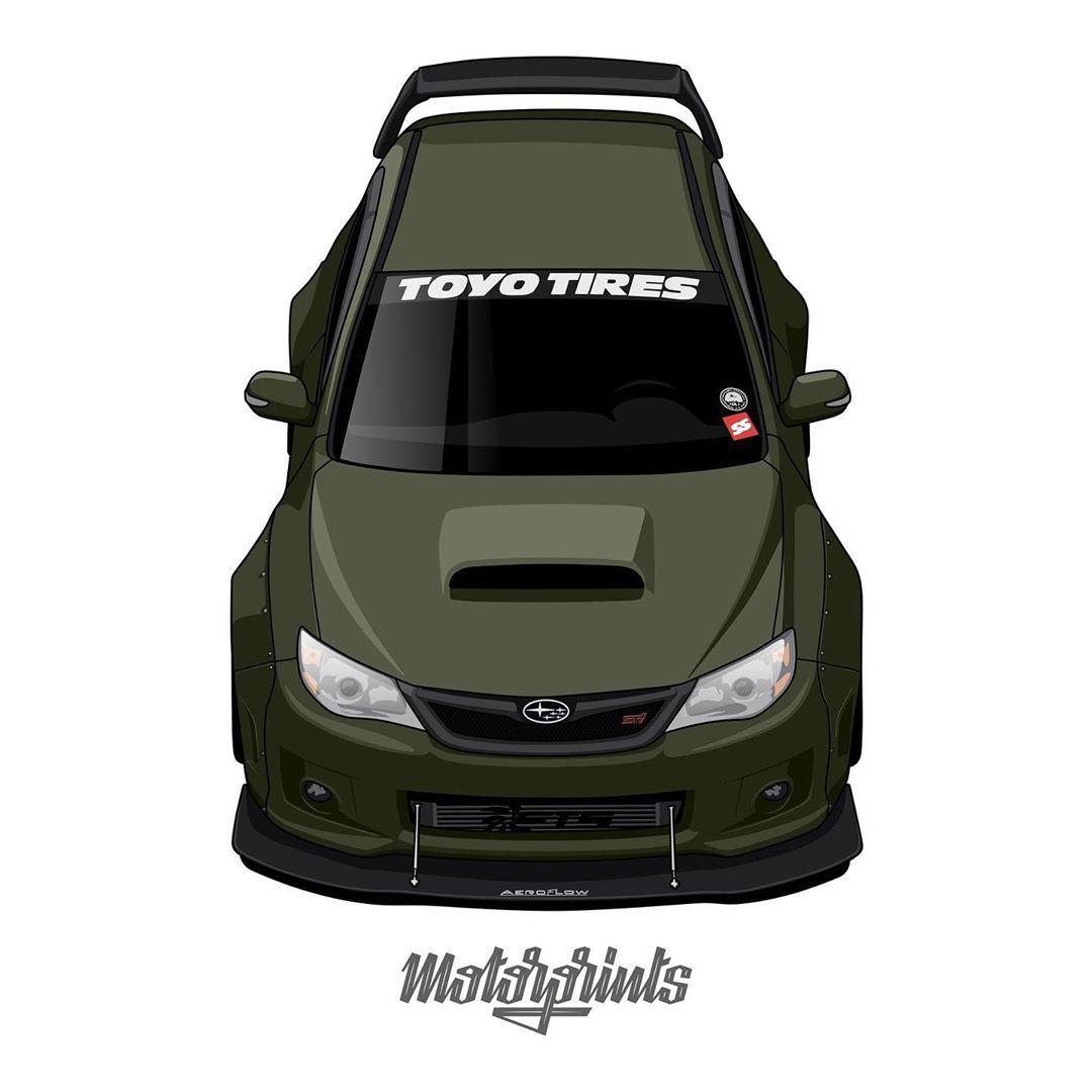 Motorprints On Instagram Subaru Impreza Wrx Sti 2014 Owner Ed Subie Order Illustration Of Your Car Write Me In Direct Me Subaru Subaru Impreza Wrx Sti [ 1080 x 1080 Pixel ]
