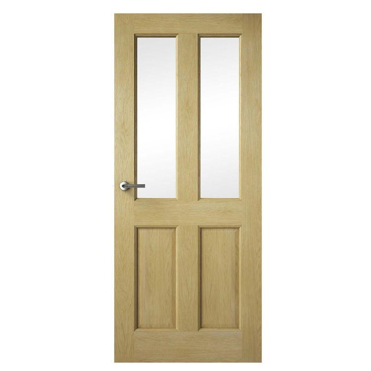 Premdor 2 Lite Oak Glazed Internal Door Home Pinterest Oak