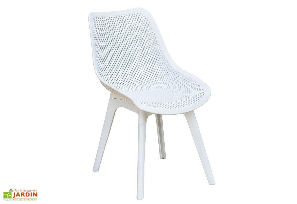 Chaise De Jardin Scandi Pvc Perfore Blanc Chaise De Jardin Chaise
