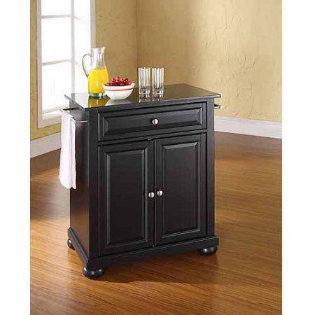 Crosley Furniture Alexandria Solid Black Granite Top Portable Kitchen Island