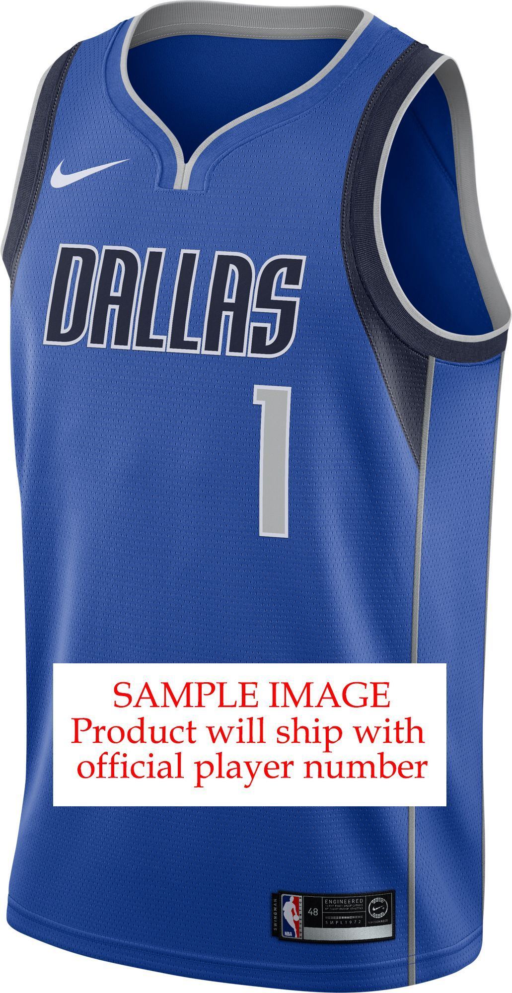 5cb40735 Nike Men's Dallas Mavericks Luka Doncic #77 Royal Dri-FIT Swingman ...