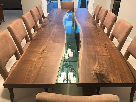 Halve Maan Tafelblad.Luxedge Furniture Co Epoxy Tables River Tables Live Edge Tables
