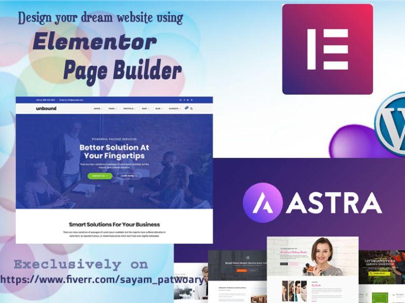 Design Or Clone Wordpress Website Design Using Elementor By Sayam Patwoary In 2020 Website Design Wordpress Website Design Wordpress Website