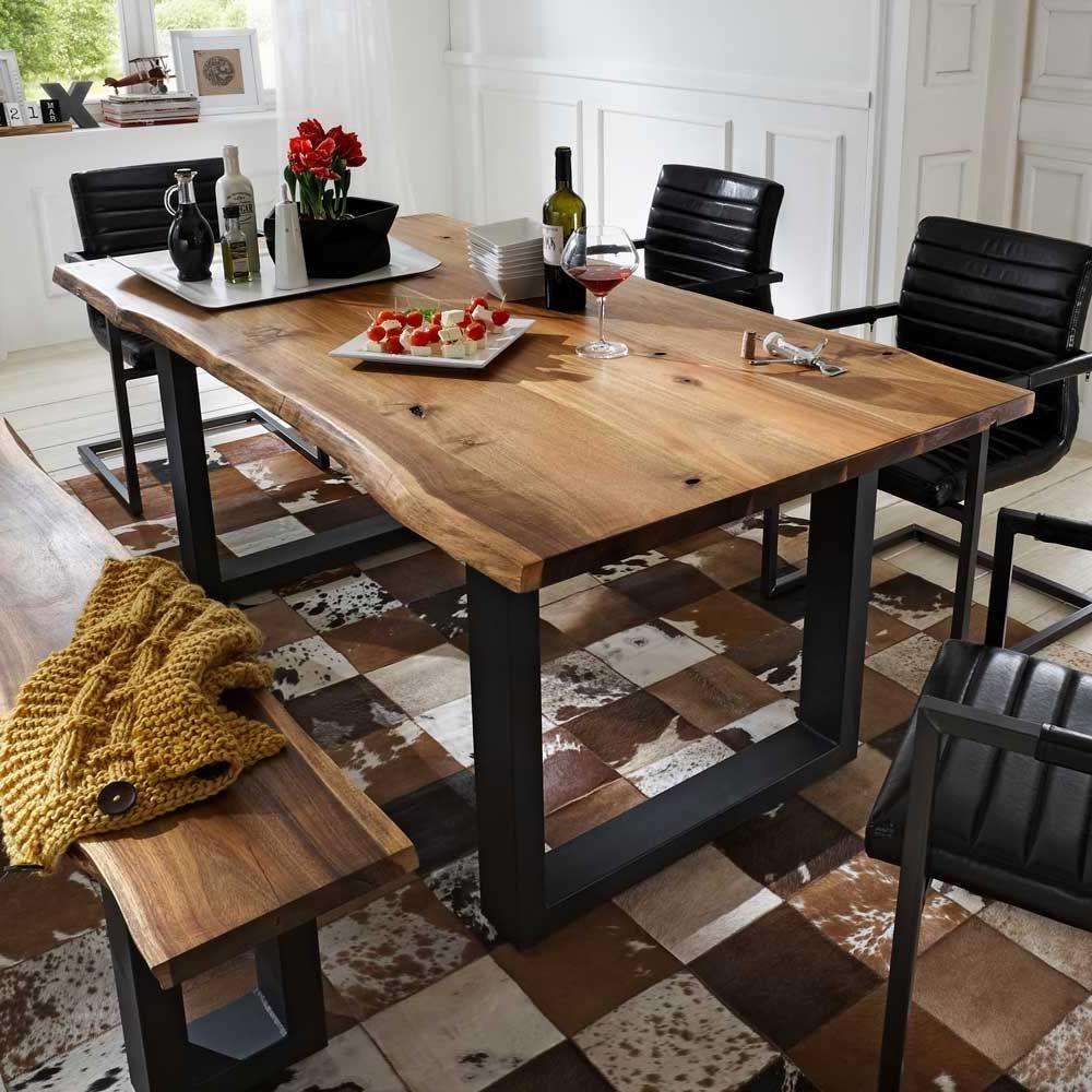 Tisch mit Baumkante Eisen Jetzt bestellen unter: https://moebel ...