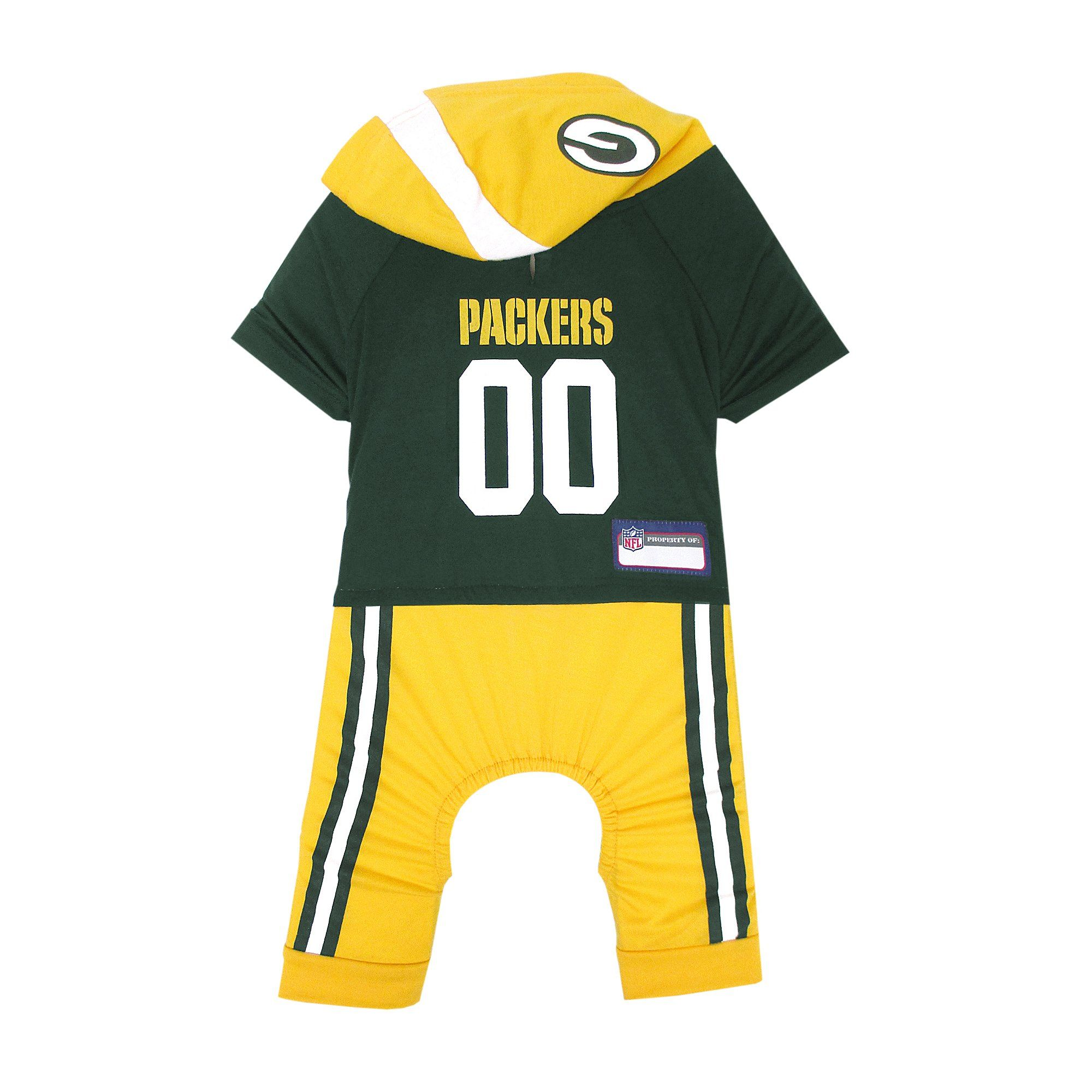 Pets First Green Bay Packers Team Uniform Onesi for Dogs