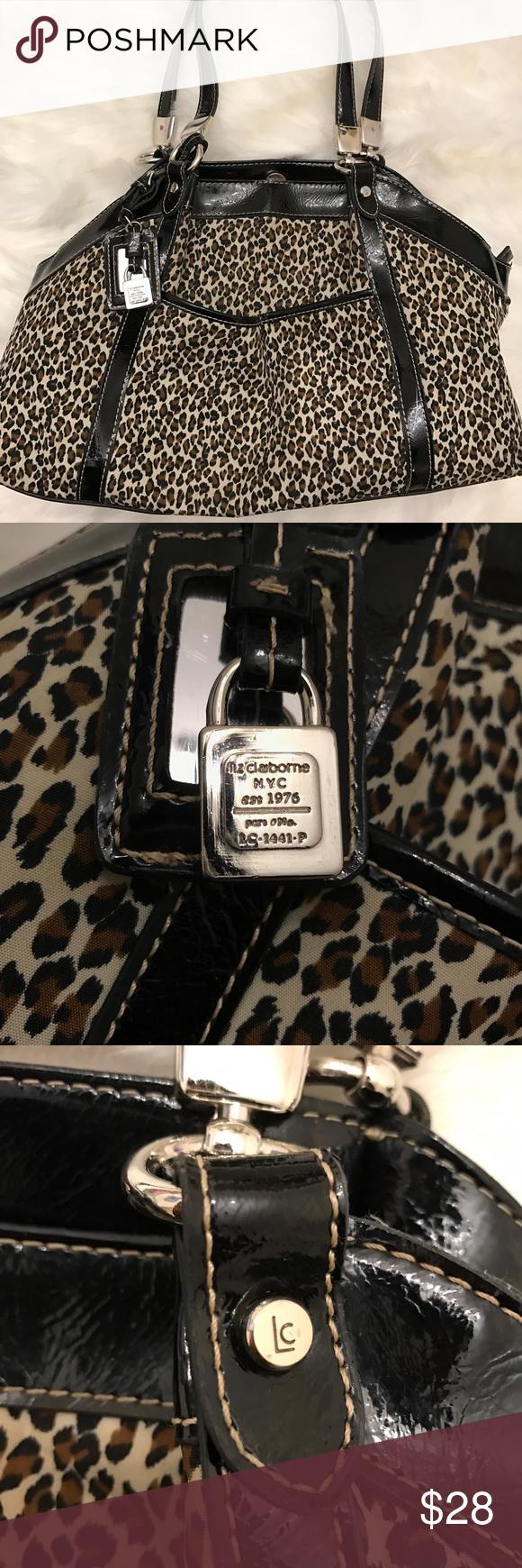 Liz Claiborne Shoulder Bag Leopard Print -like new Pre-owned but in good condition. Liz Claiborne Shoulder Bag. Leopard print. Black lining. Three compartments plus plenty of pockets. Liz Claiborne Bags Shoulder Bags
