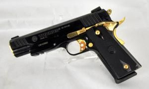 taurus 1911 hi polish black with gold accents 38 super 5 nib 1