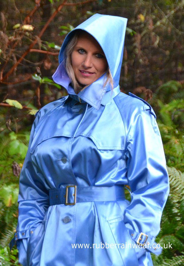 Enjoy this gorgeous blonde in her Rubber Rainwear!   Raincoat ... 9b9f261f5b