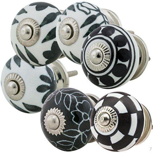 bouton de meuble porcelaine peinte