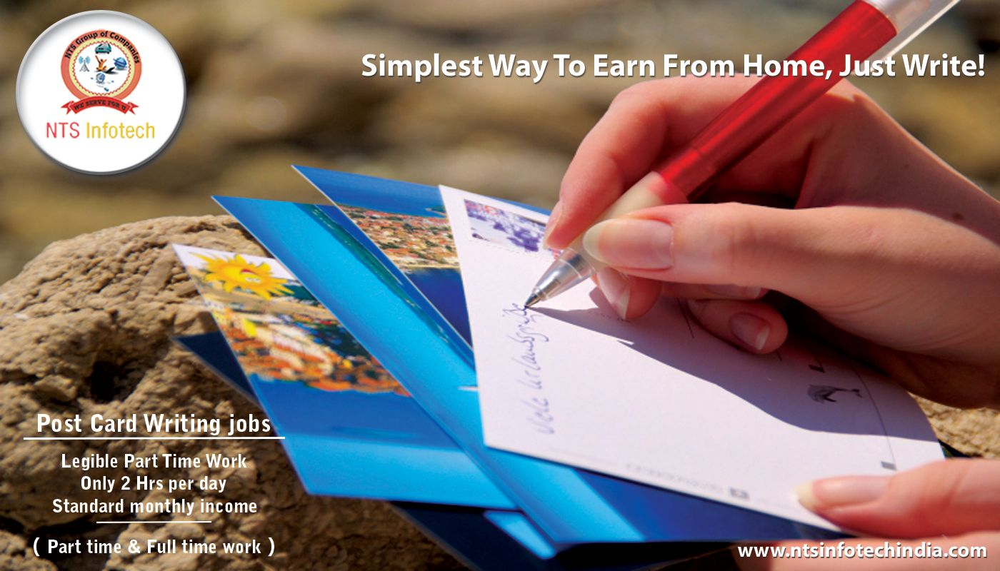 Nts Infotech Offers Post Card Writing Job Legible Part