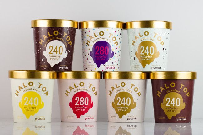 Halo Top Creamery - Birthday Cake Ice Cream - 1 Pint -- Healthy! #proteinicecream