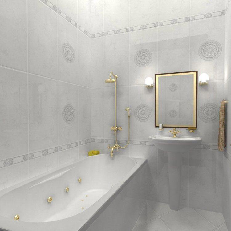 33 id es pour petite salle de bain avec astuces pratiques for Carrelage blanc rectangulaire